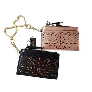 Victoria's Secret Laser floral Metallic Card Case